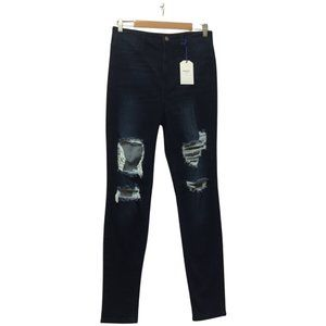 NWT CELLO JEANS  sz 13 high rise distressed skinny